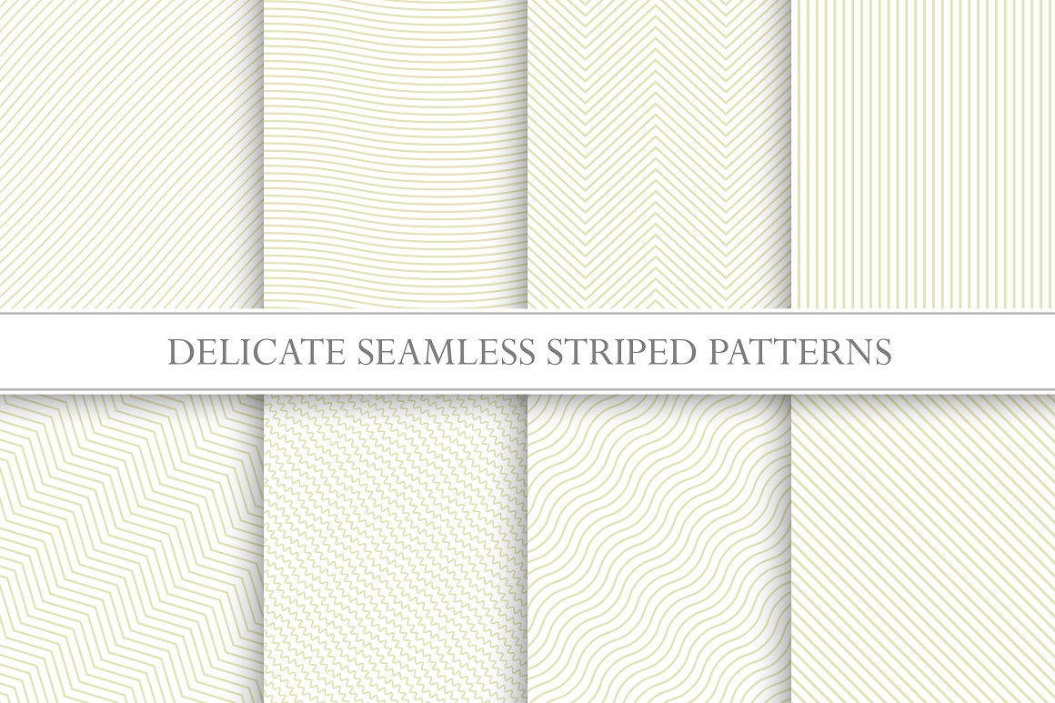 Set of striped seamless textures example image 6