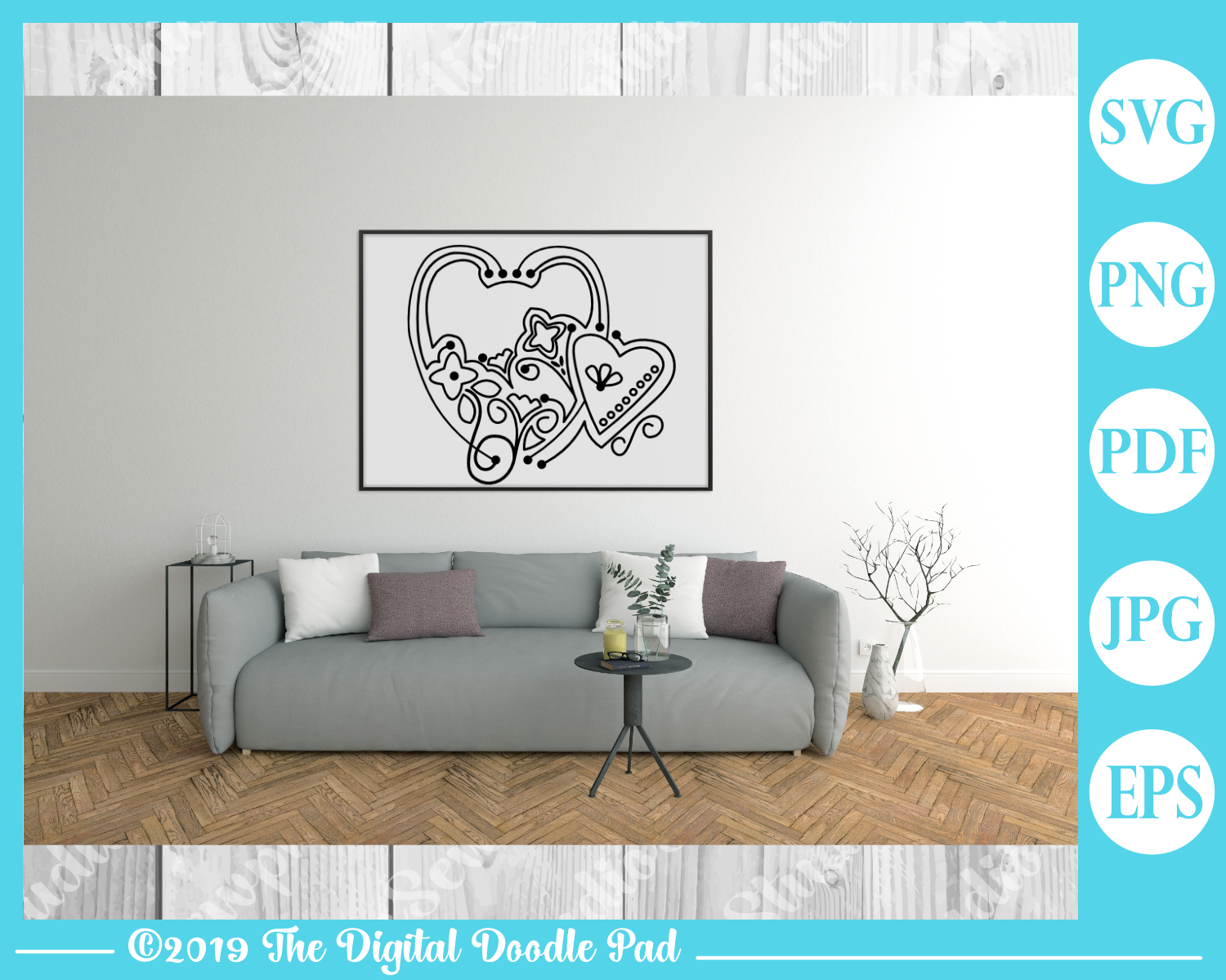 Doodle Heart Set by Digital Doodle Pad example image 3