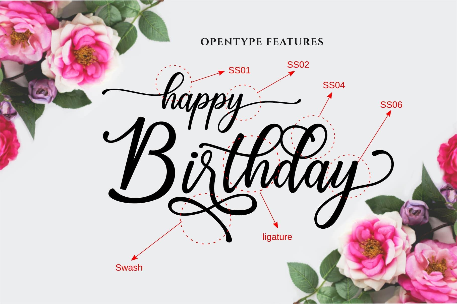 Happy Birthday // Pretty font example image 6