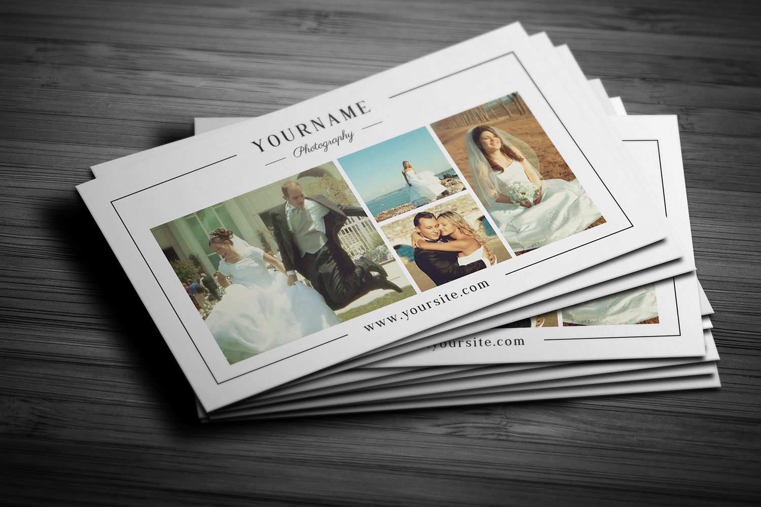 Minimal Wedding Photography Business Card  example image 4