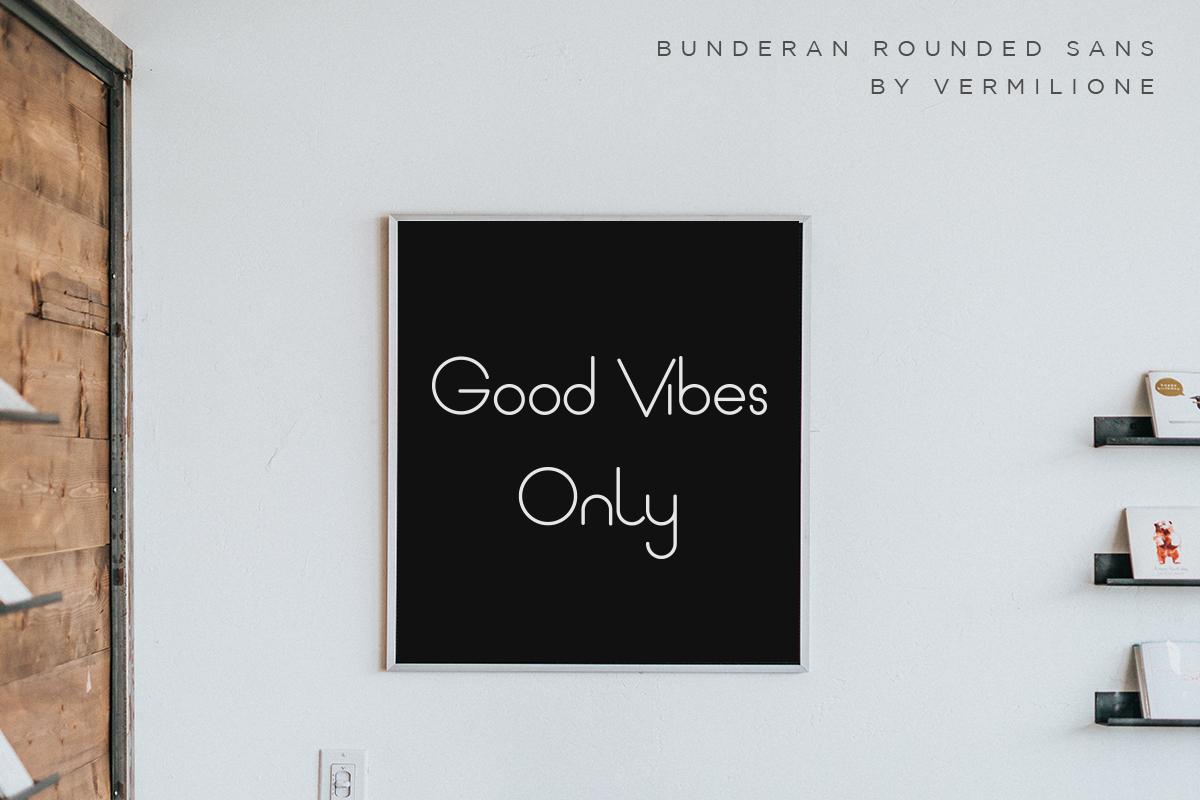 Bunderan Rounded Sans example image 12