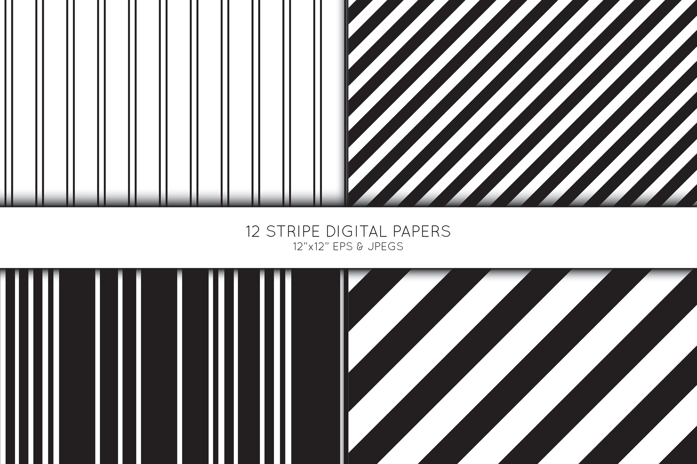 Stripe Digital Paper, Striped Scrapbook paper example image 3