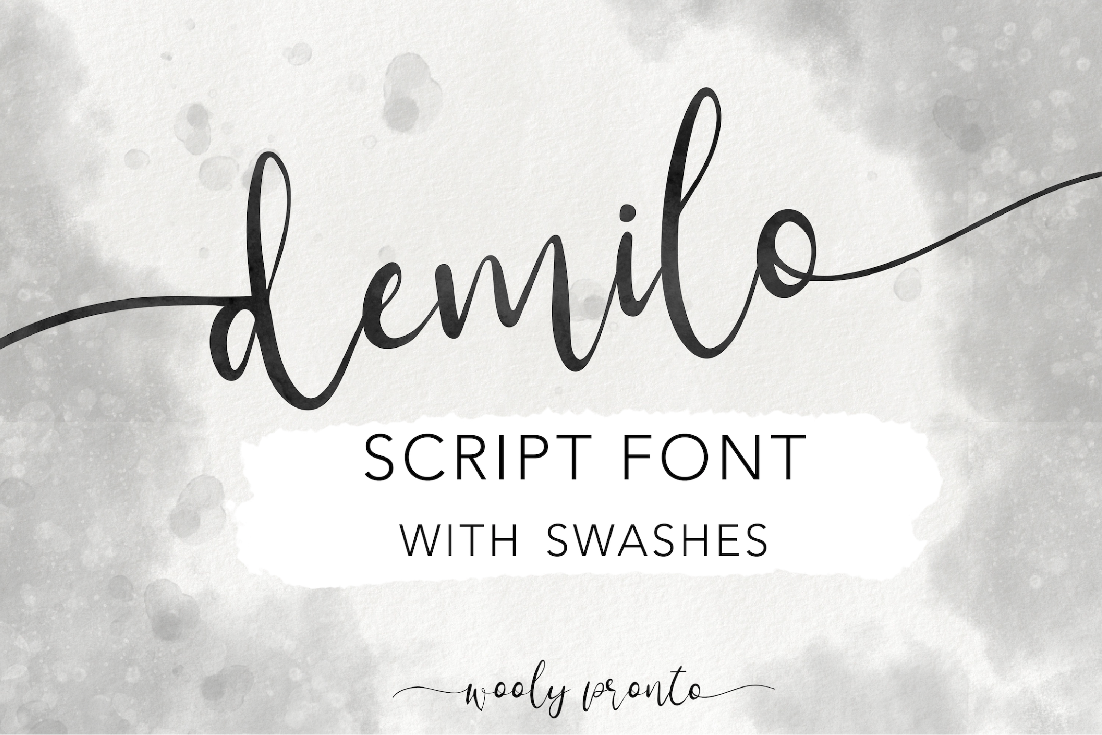Demilo Handwritten Modern Brush Script Font with Swashes example image 1