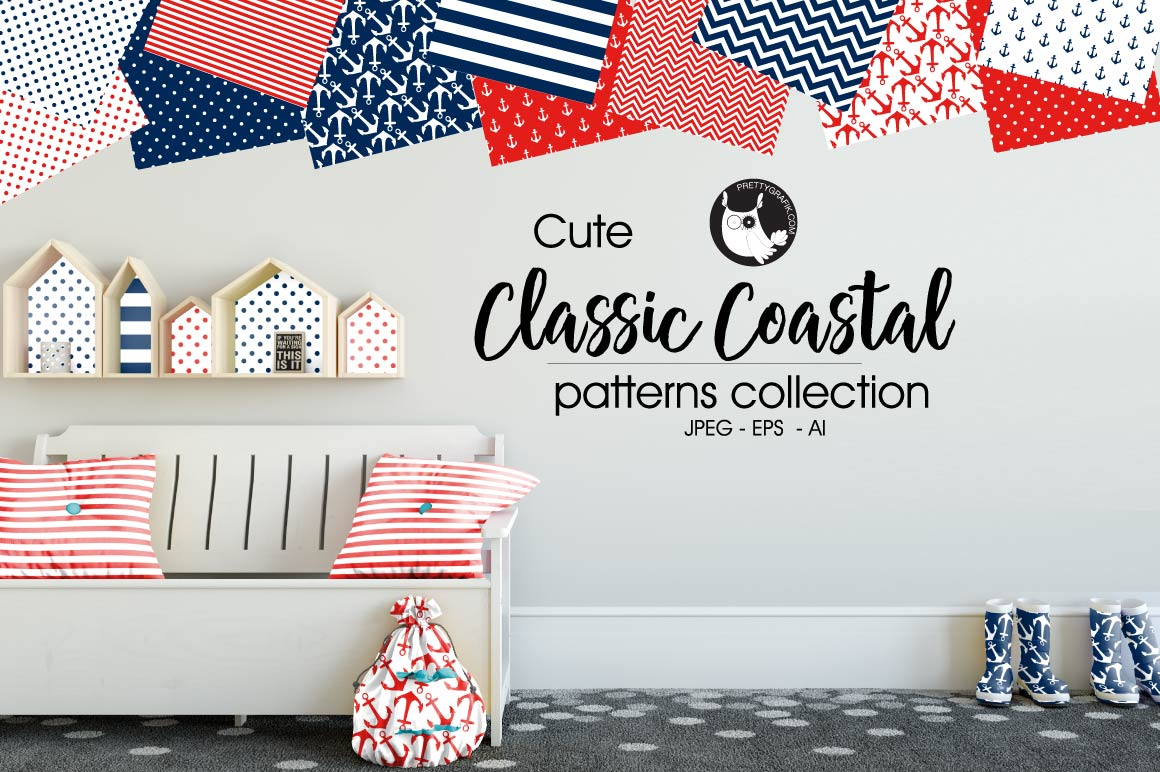 CLASSIC-COASTAL, digital papers example image 1