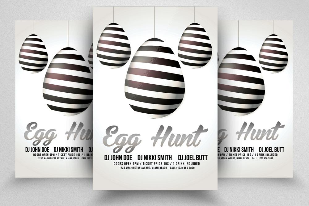 10 Easter Egg Psd Flyer Print Template Bundle example image 8