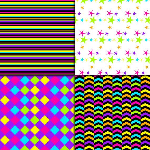 Neon Digital Paper example image 2