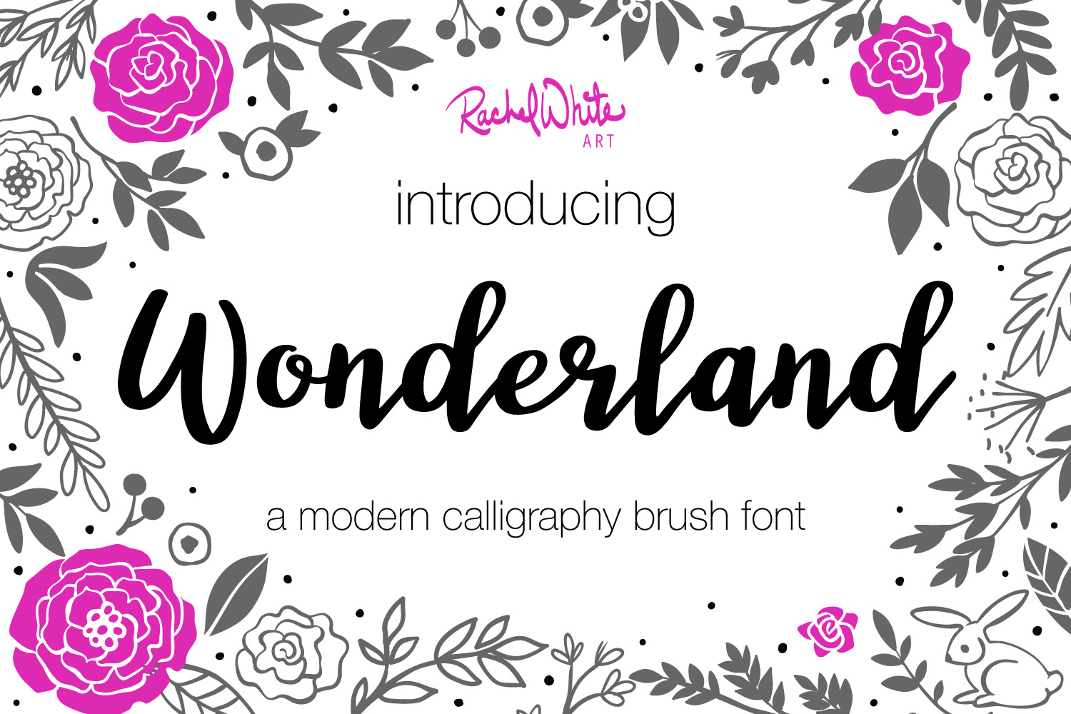 Wonderland, a modern calligraphy font example image 1