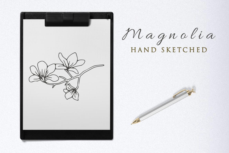 Magnolia Illustration example image 4