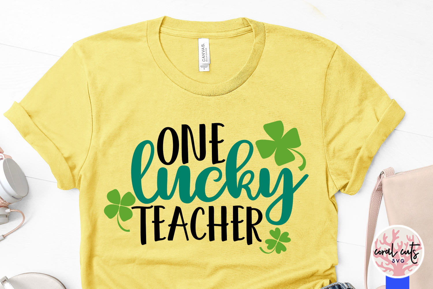 One lucky teacher - St. Patrick's Day SVG EPS DXF PNG example image 2