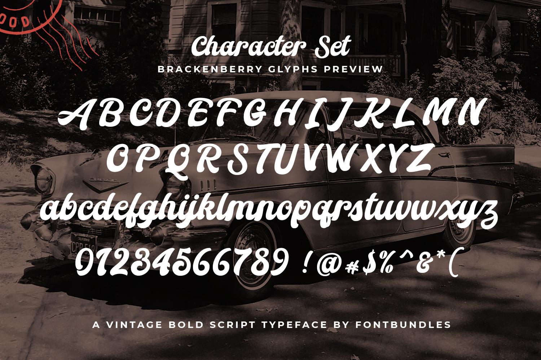 Brackenberry Typeface example image 3