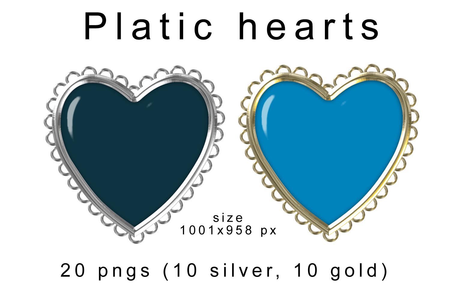 Plastic hearts scrapbooking elements example image 1