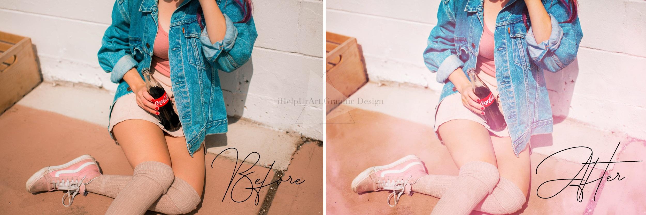Pink Fog Photo Overlays Bundle - Glamour Photo Filter example image 4