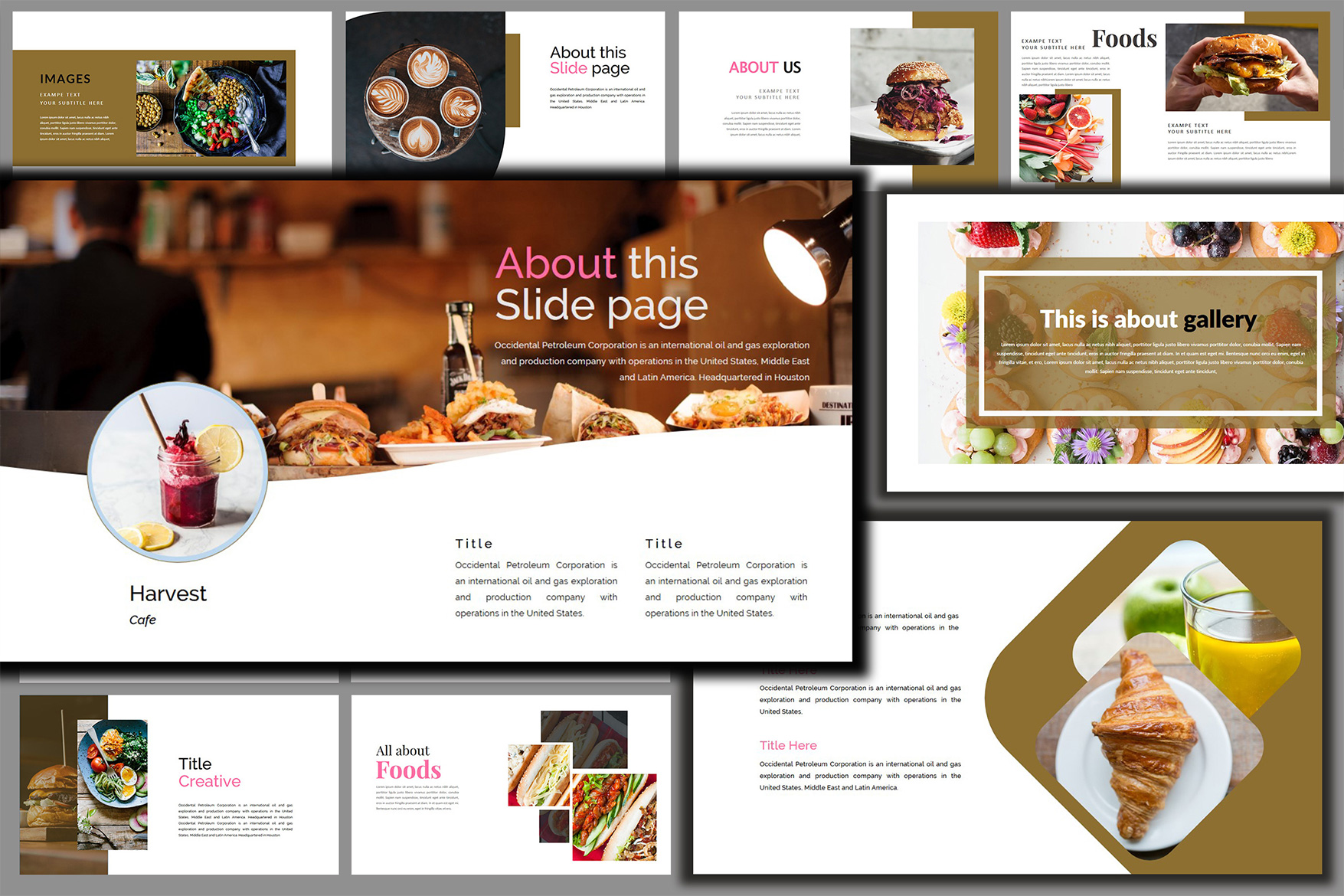 Delicious Food - Powerpoint Template example image 2