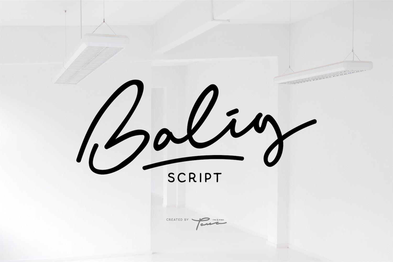 Balig Script example image 1