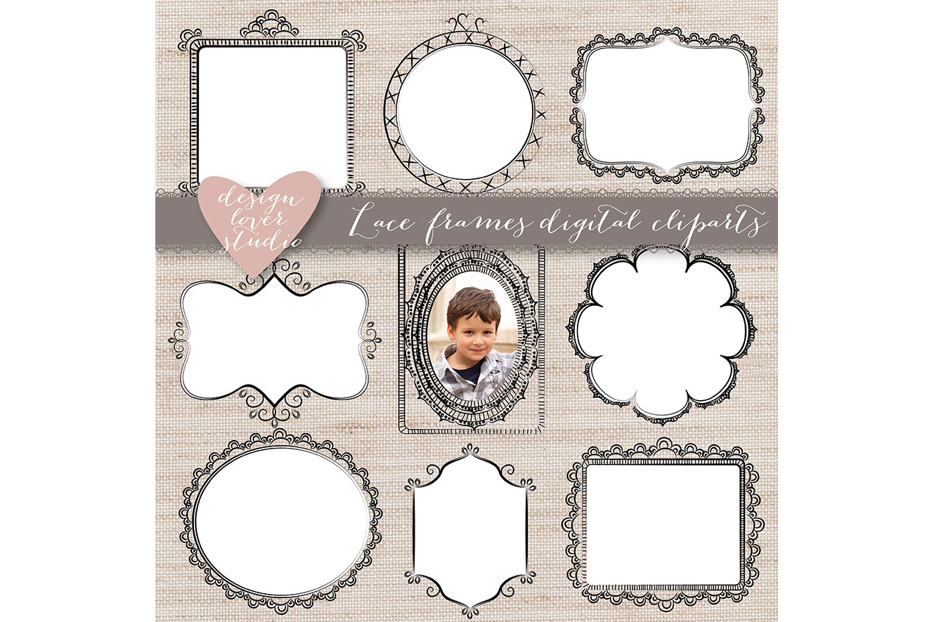 Vector Rustic Cute Frames example image 2