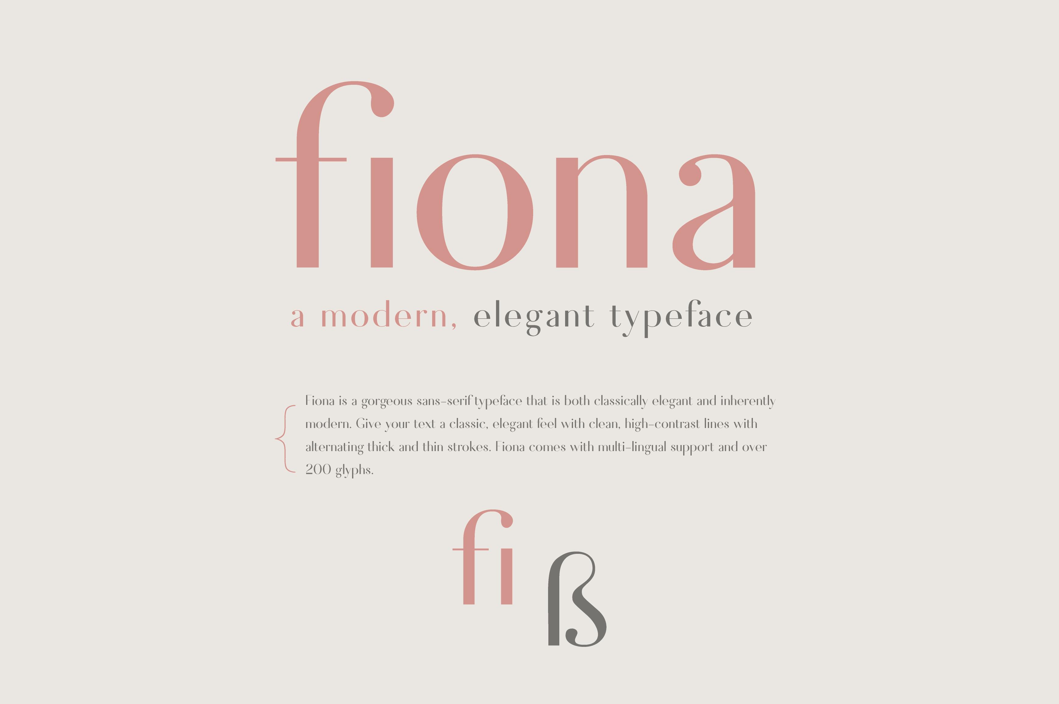 Fiona - An Elegant Typeface example image 6
