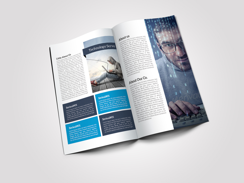 8 Pages Business Corporate Bifold Brochure example image 2