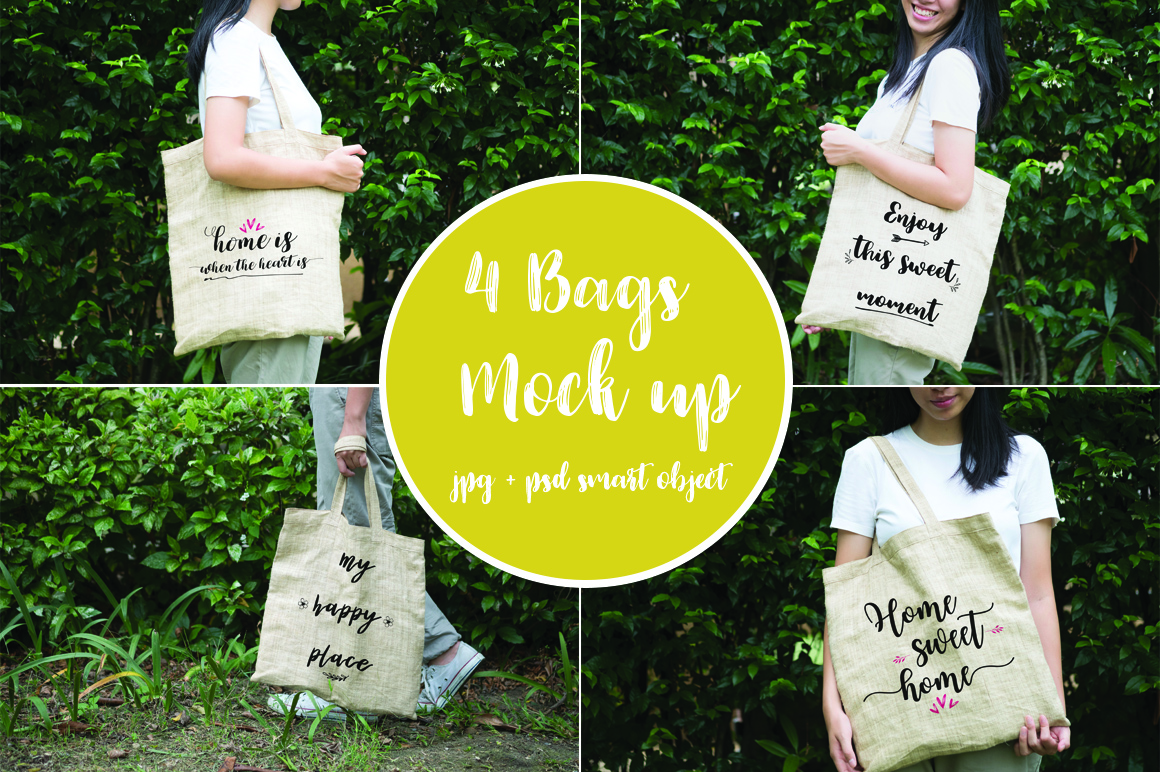 4 bags mock up example image 1