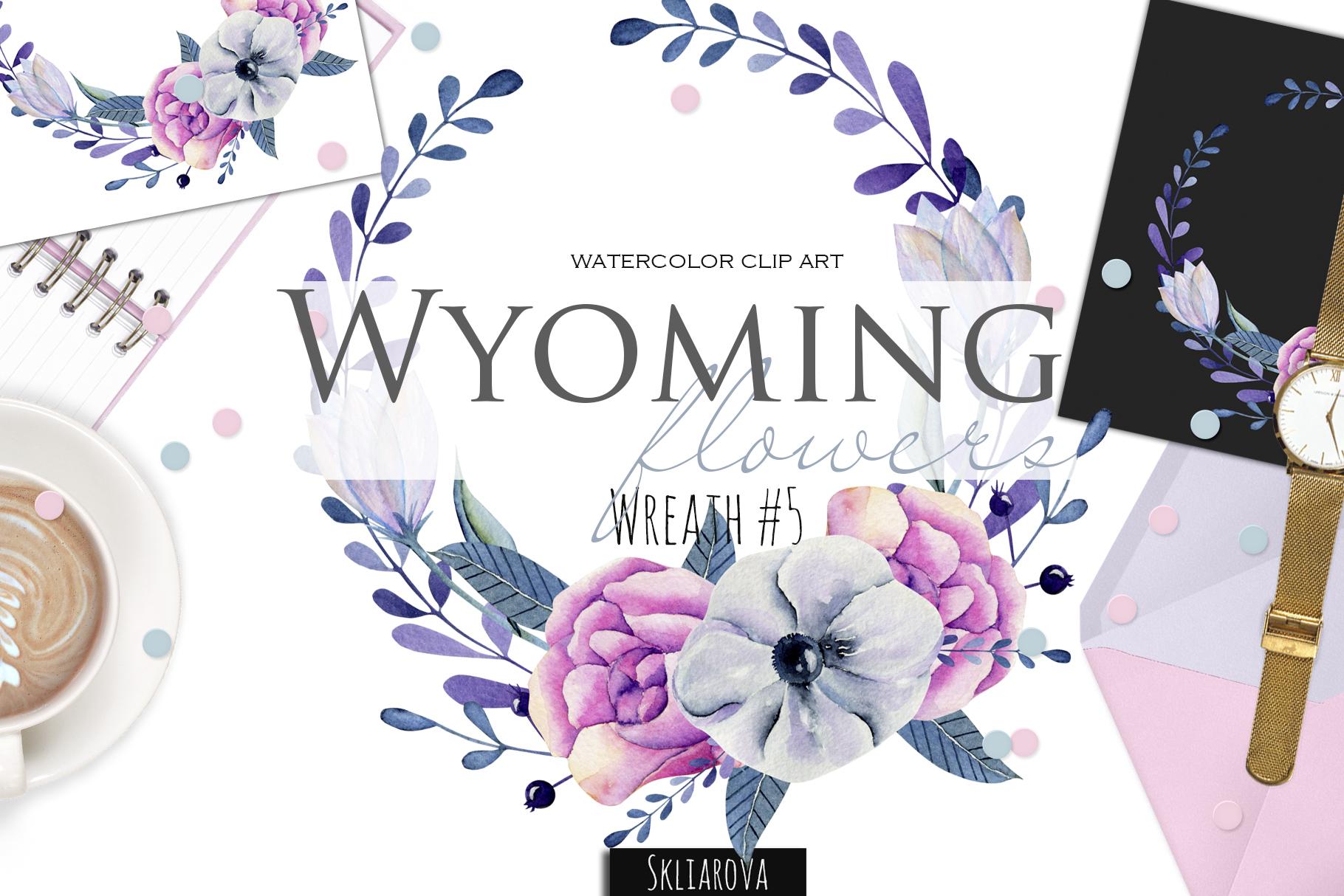 Wyoming flowers. Wreath #5 example image 1