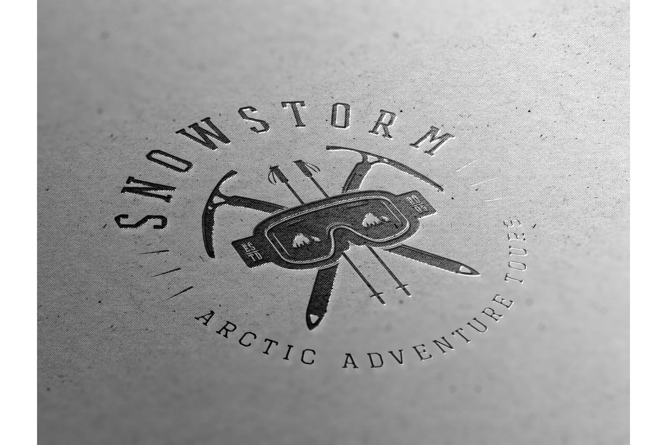 Winter vintage adventure emblems. example image 2