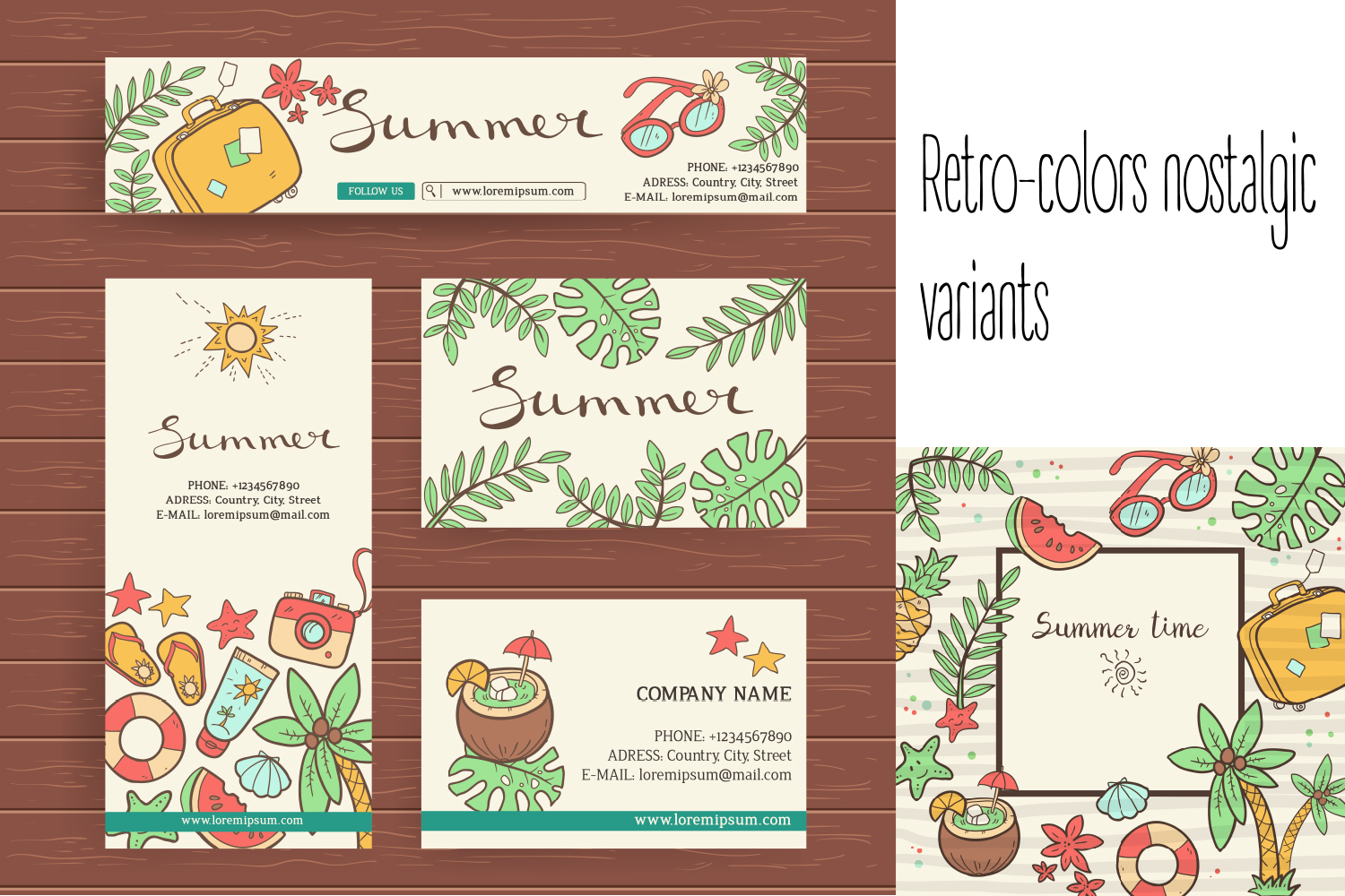 Summer vector doodles collection. example image 2
