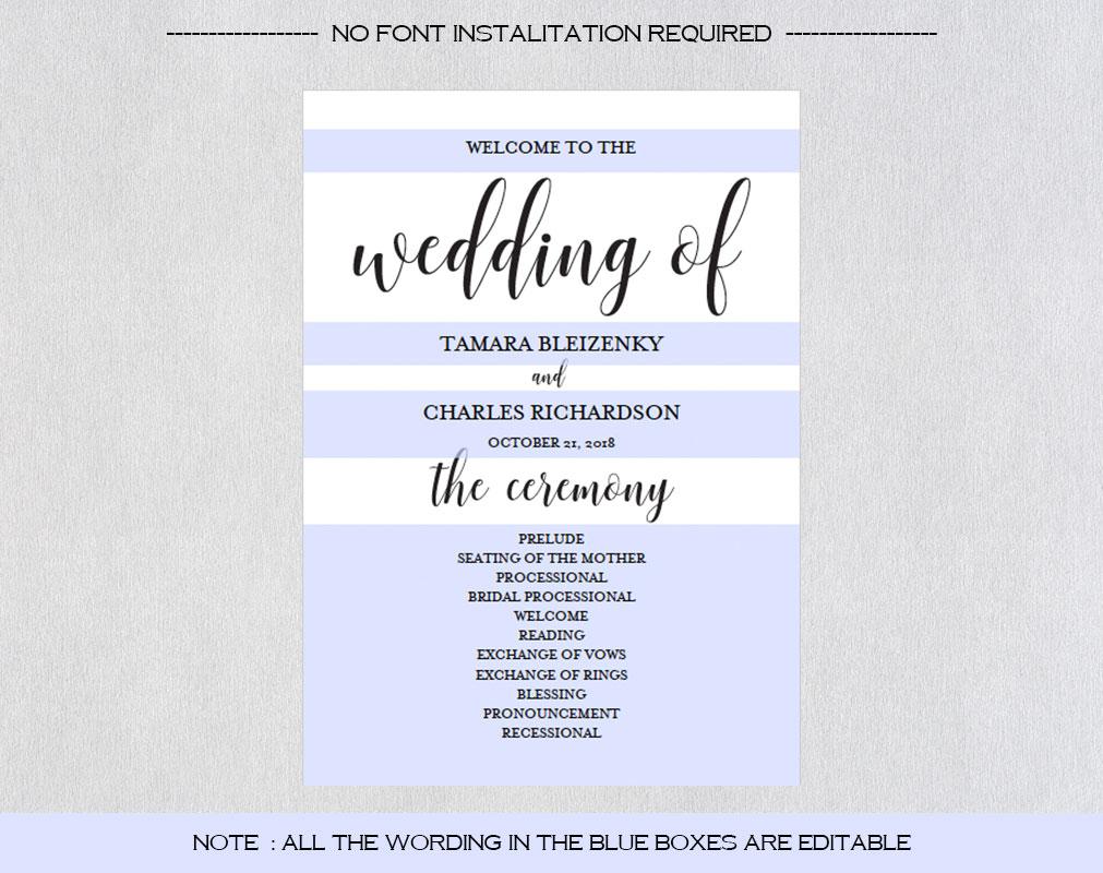 Wedding program fan example image 4