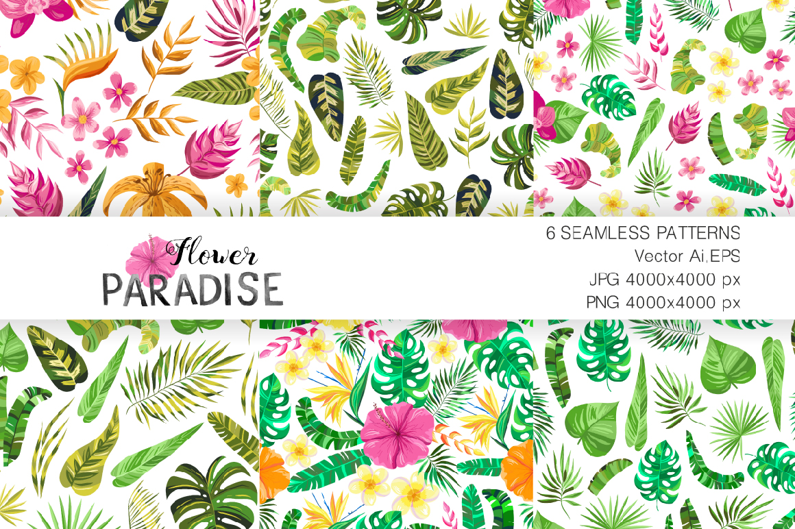 Vector Flower Paradise Set example image 3