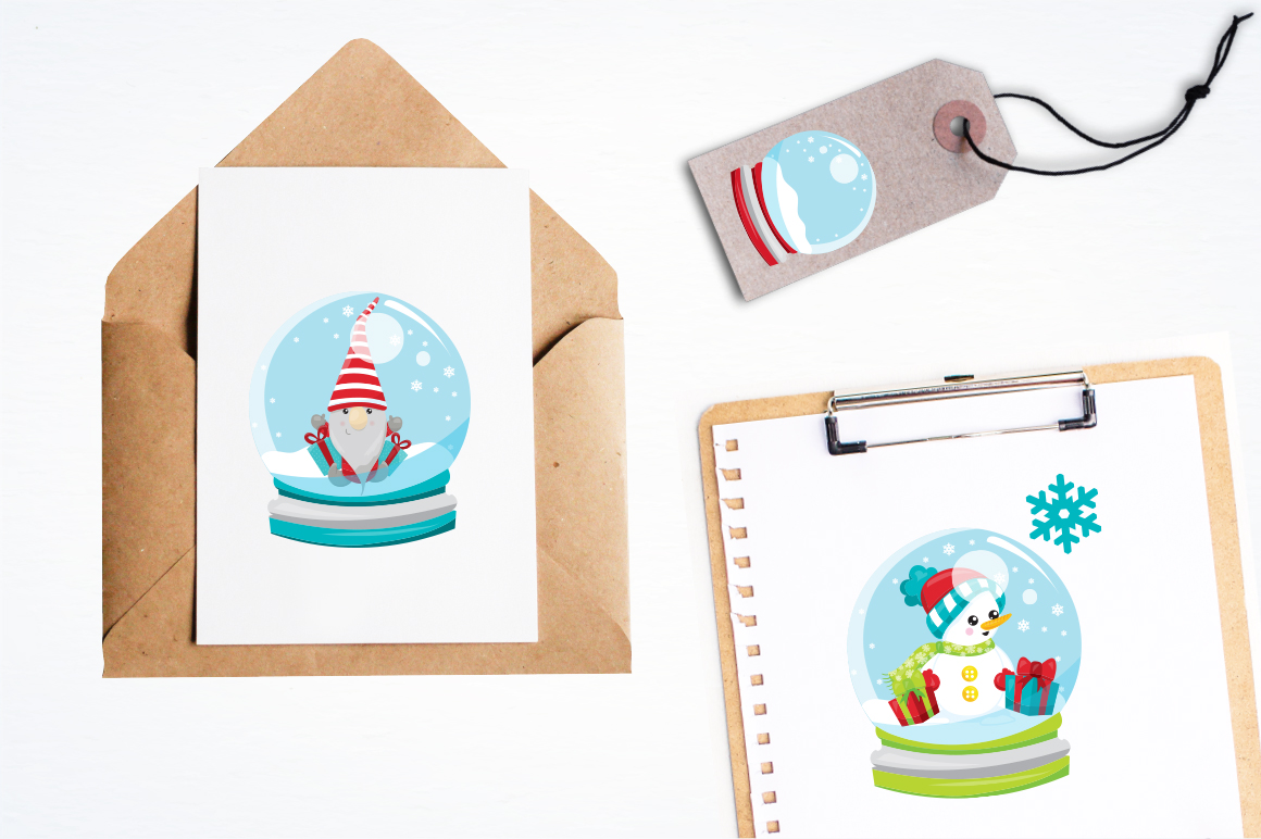 Christmas Globe graphic and illustrations example image 2