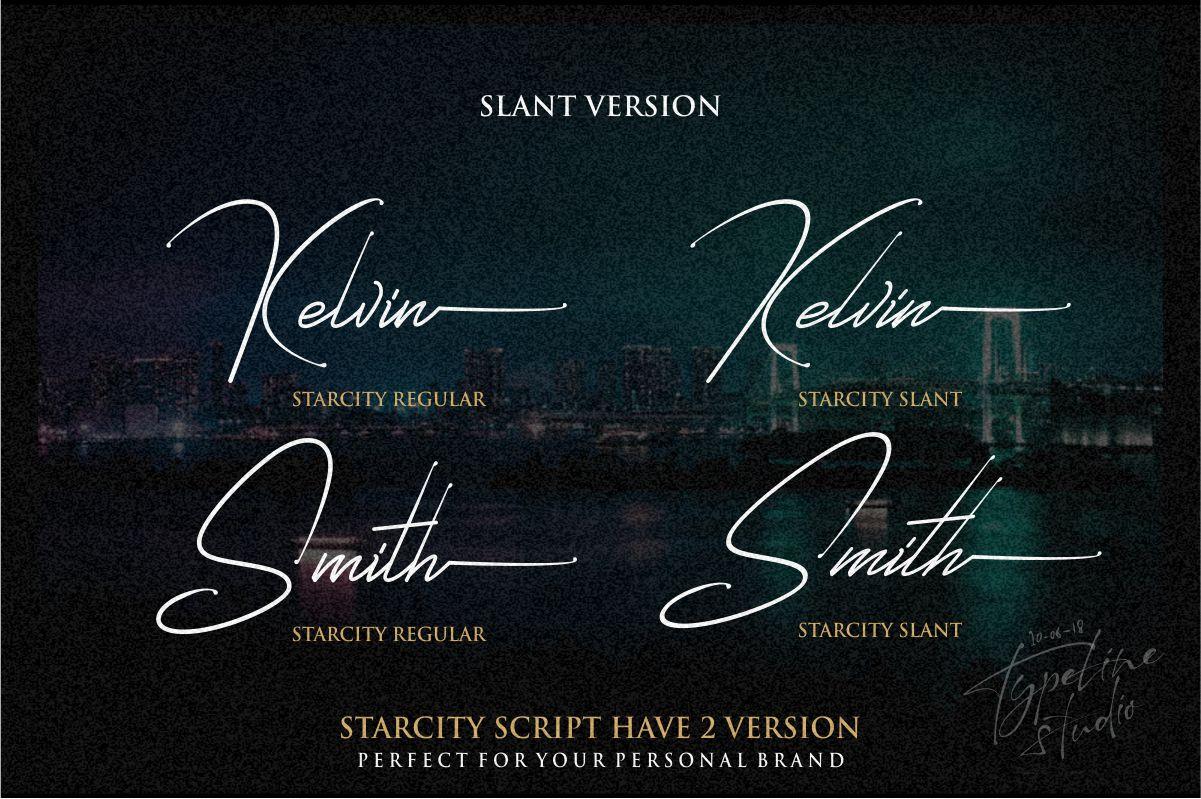 Starcity Script // Signature Font example image 2