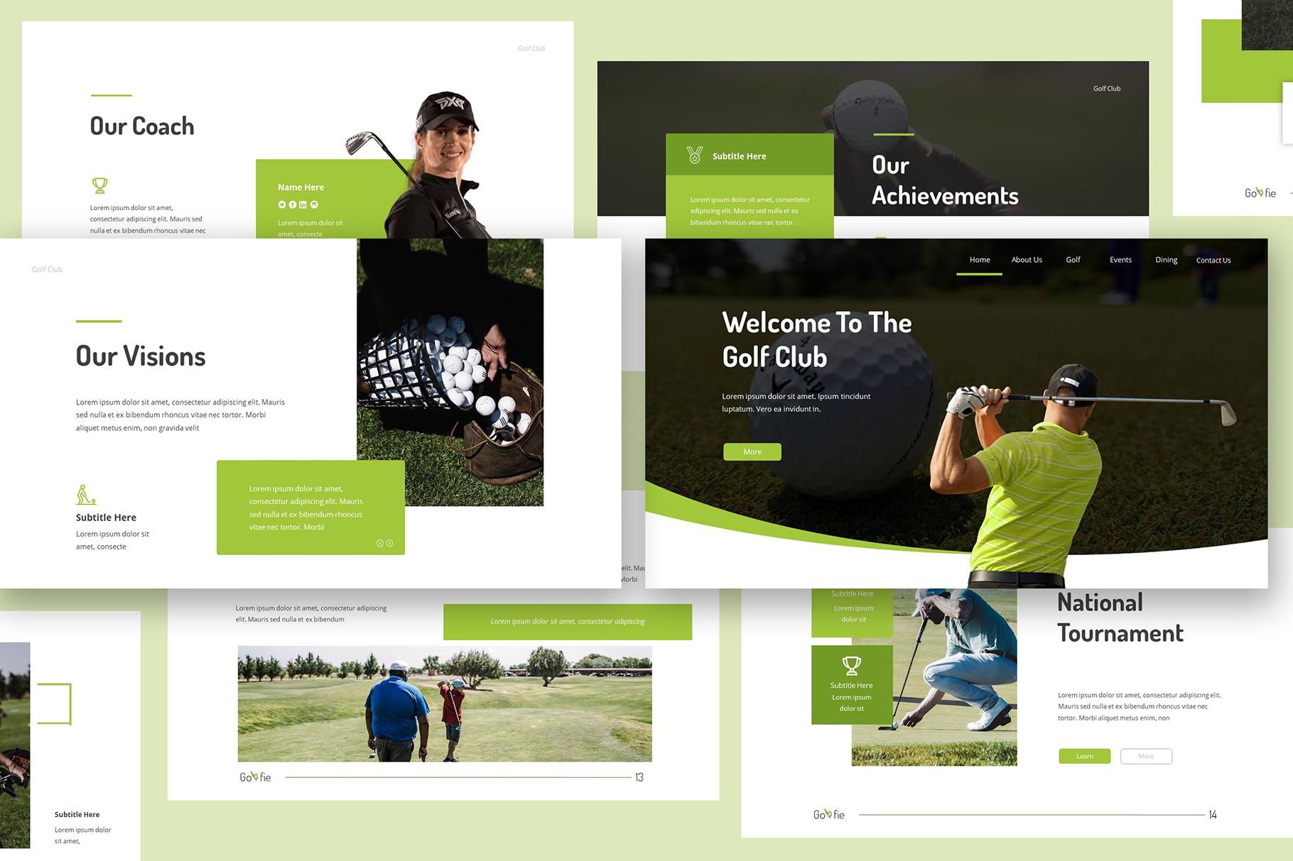 Golfie Golf Keynote Presentation example image 1