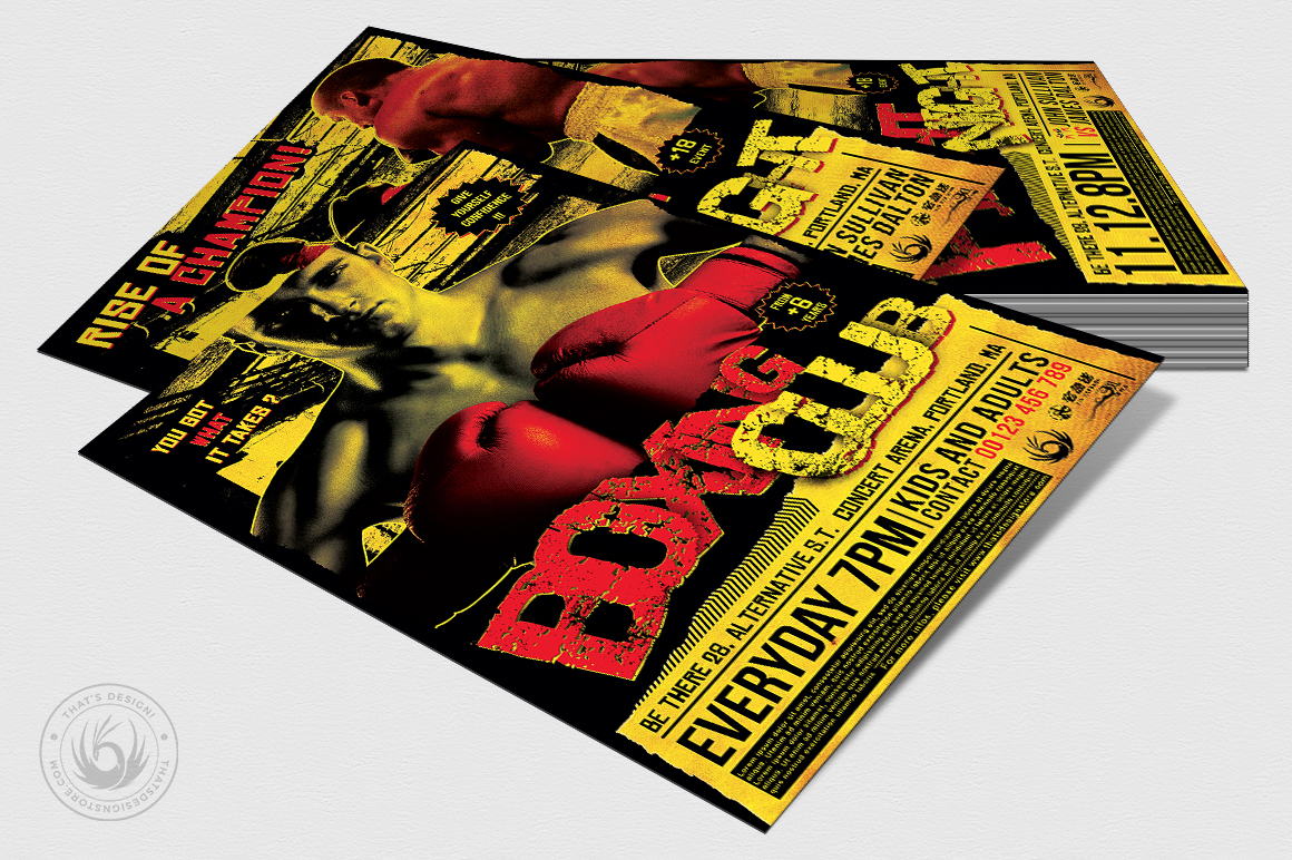 Fight Night Flyer Template V1 example image 4