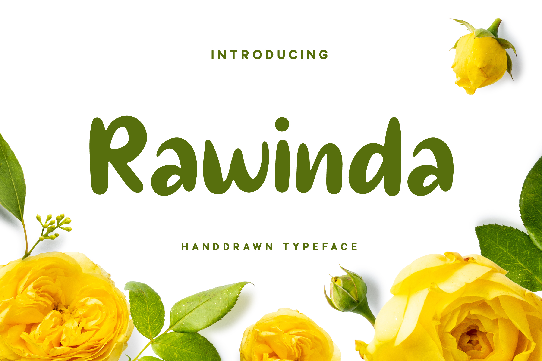 Rawinda - Handdrawn Font example image 1