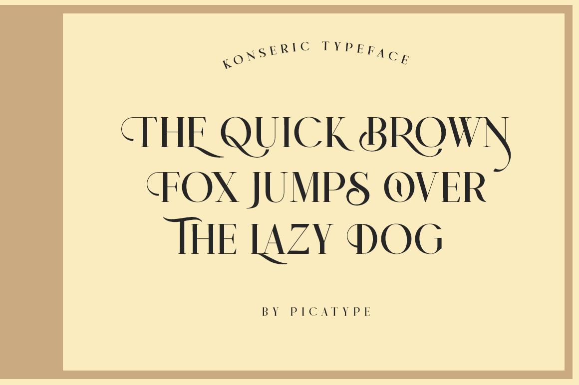 Konseric   Luxury Serif Font example image 10