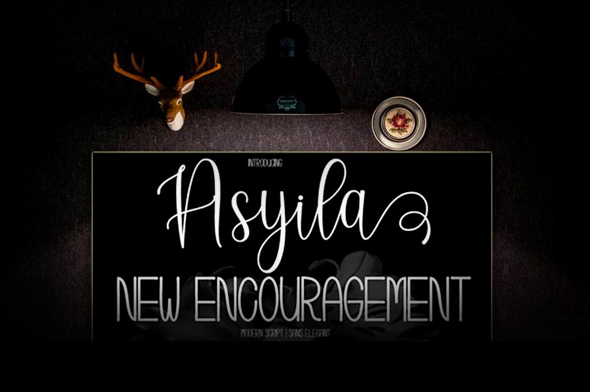 Asyila Font Duo example image 7
