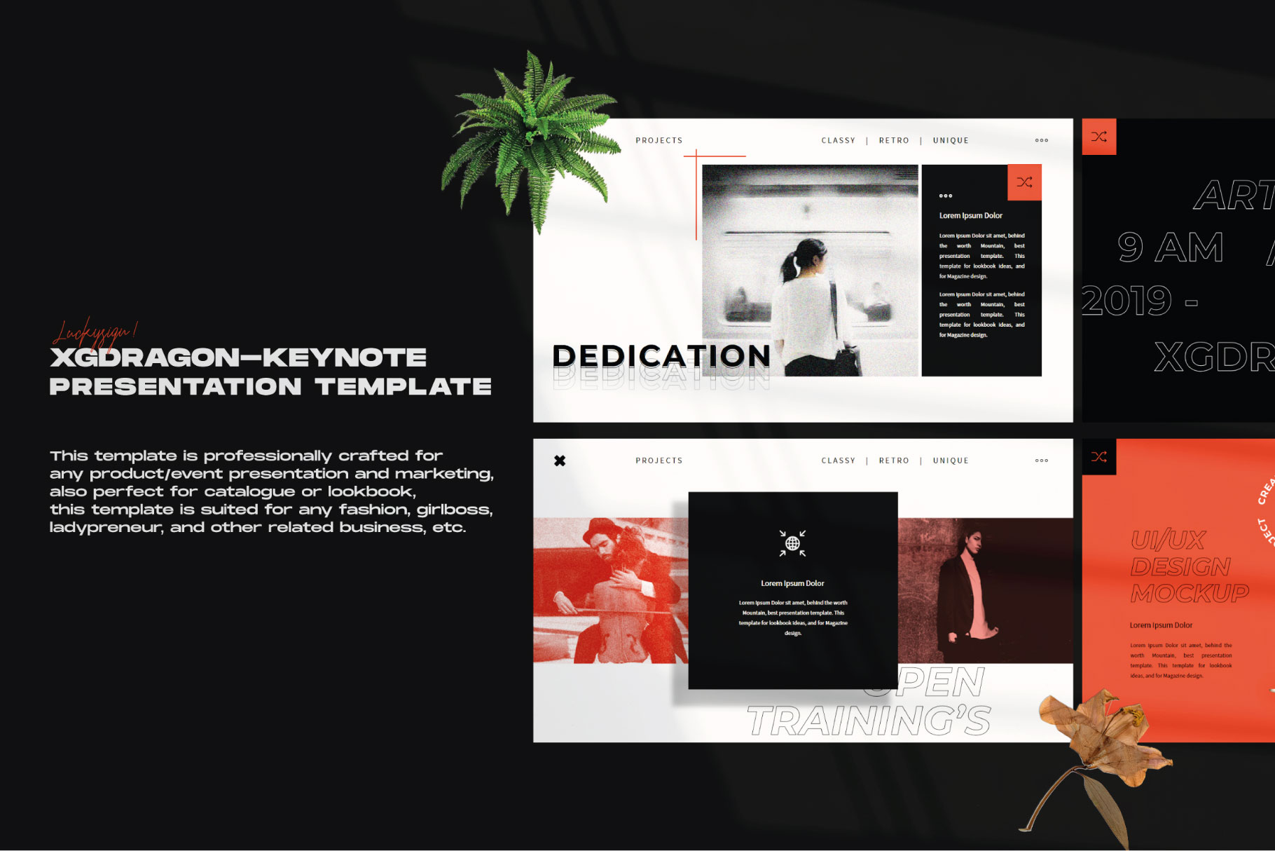 XGdragon Business Presentation Template example image 8