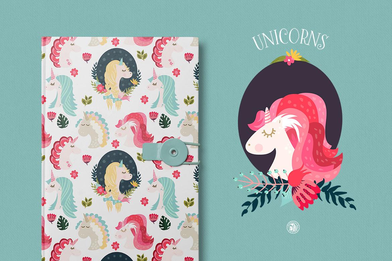 Unicorns - illustrations and patterns example image 6