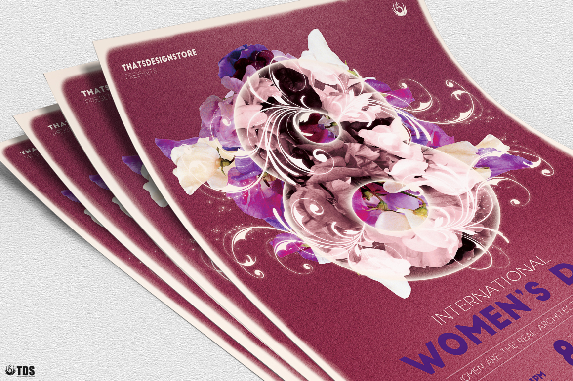 Womens Day Flyer Template V1 example image 5