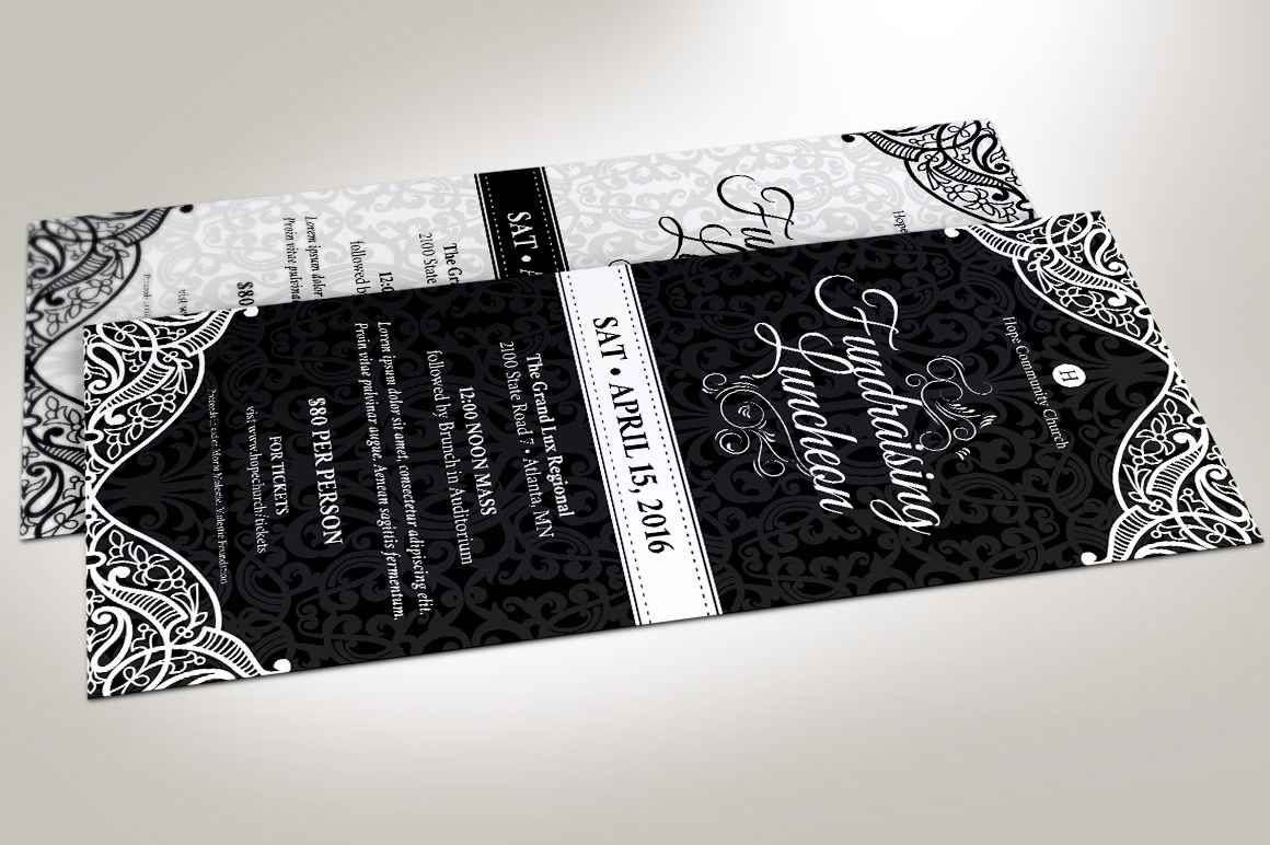Black White Luncheon Flyer Template example image 2