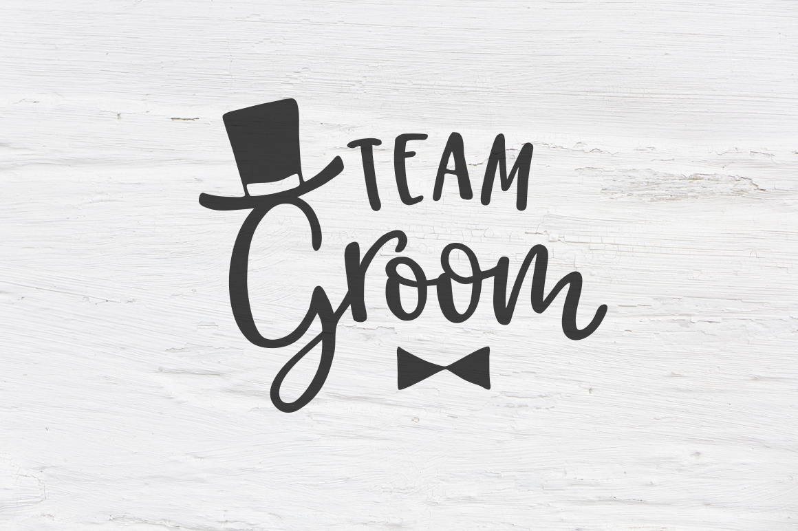 Team Groom wedding SVG, EPS, PNG, DXF example image 1