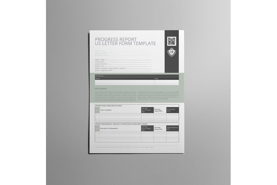Progress Report US Letter Form Template example image 3