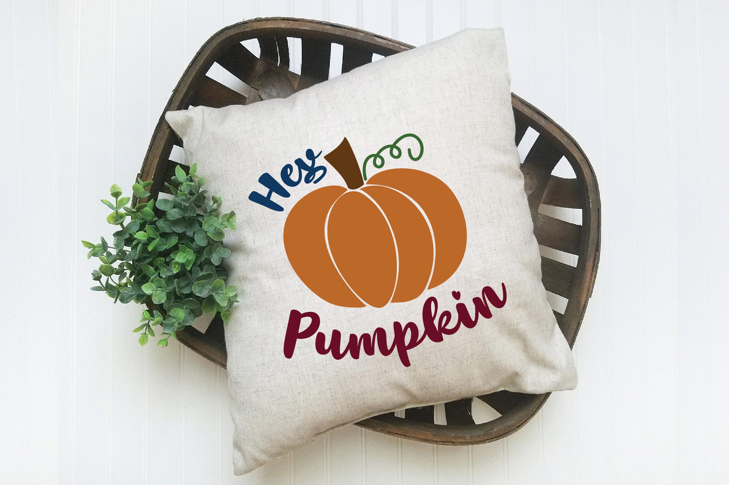 Hey Pumpkin SVG Cut File - Fall Pumpkin SVG example image 8