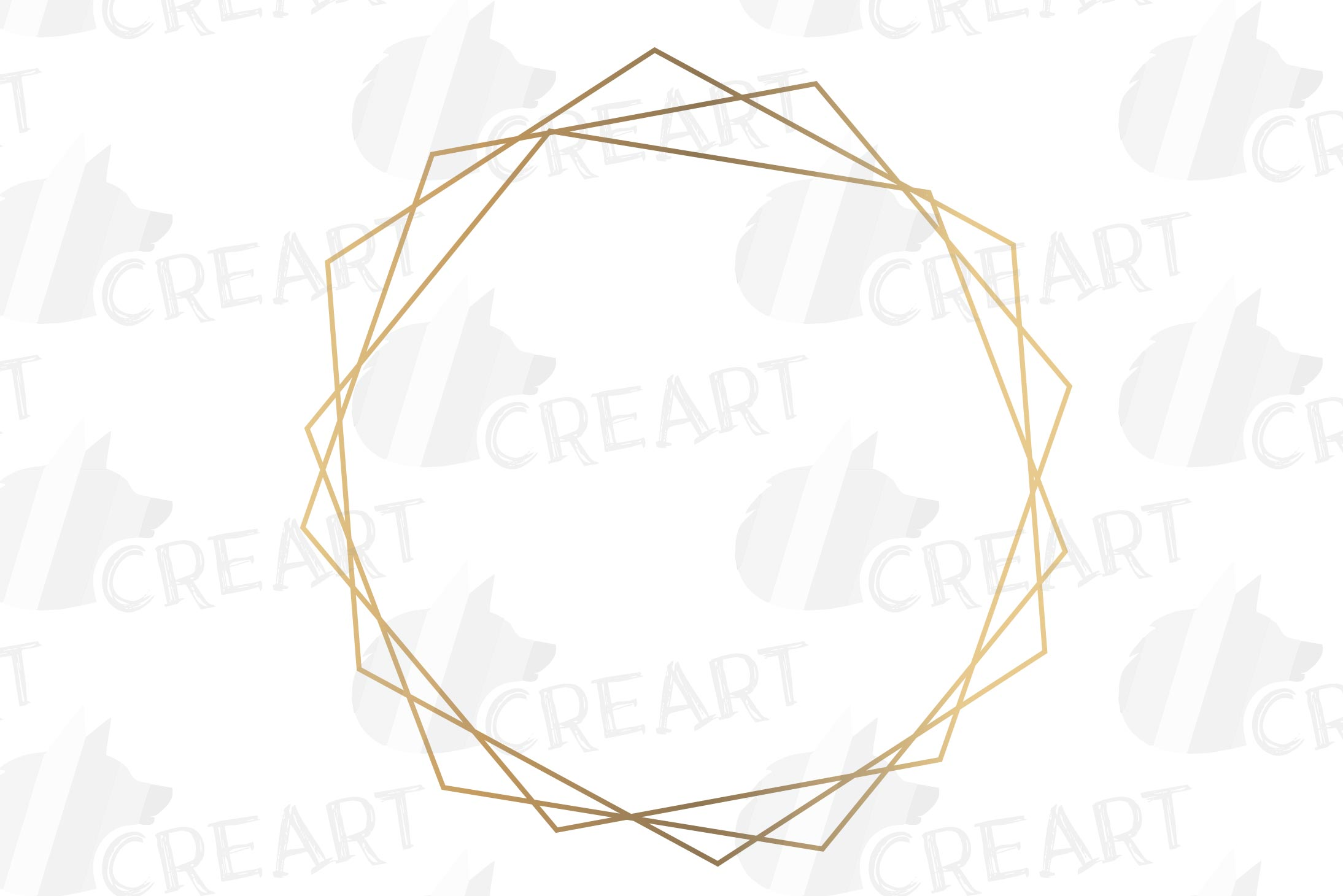 Elegant wedding geometric golden frames, lineal frames svg example image 21