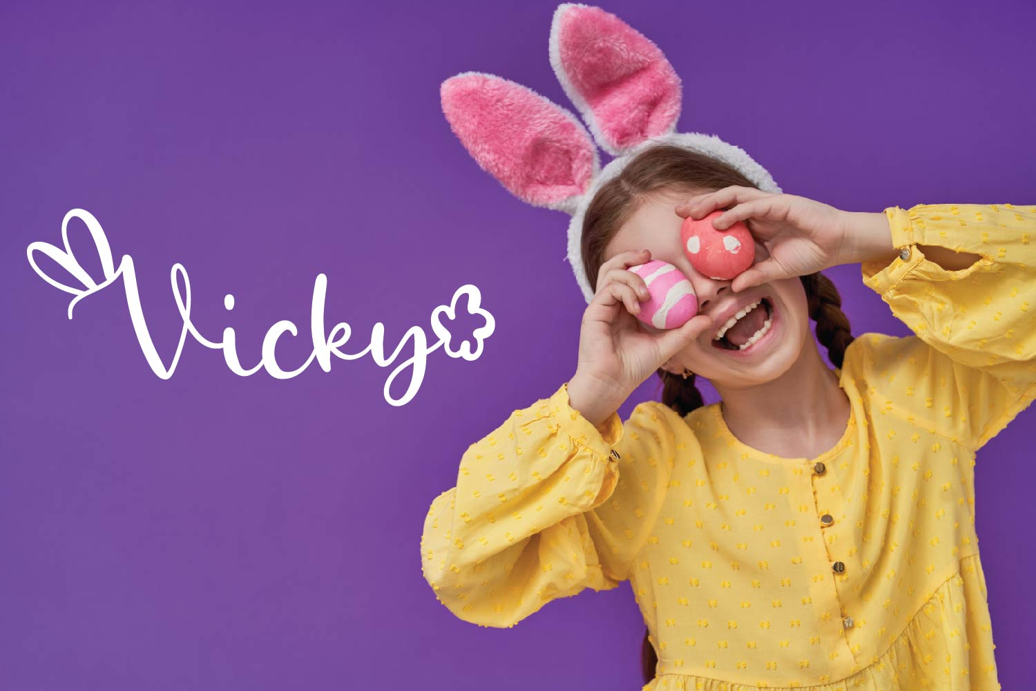 Rabbity - A Spring Font With Ears & Cotton Tails example image 3