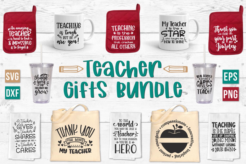Teacher SVG Bundle, Teacher Appreciation, Teacher Gift Ideas example image 1
