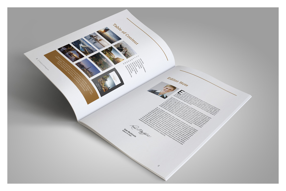 Indesign Magazine Template example image 4