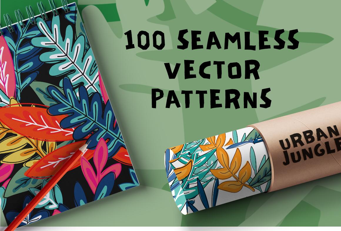 100 Urban Jungle Patterns-Bundle example image 3