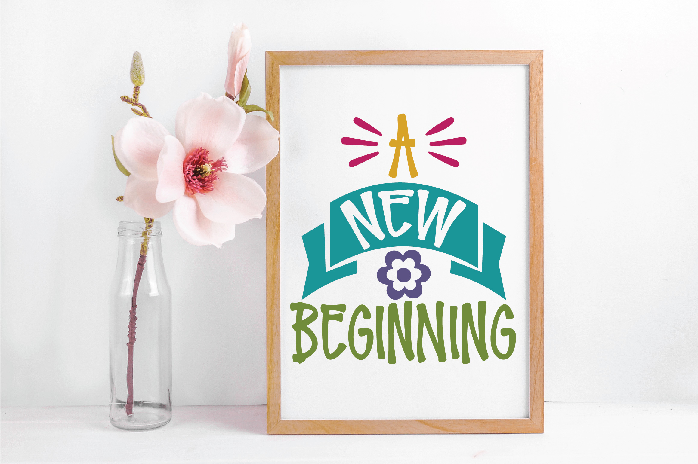 A New Beginning SVG Cut File - Spring SVG DXF EPS PNG JPG AI example image 5