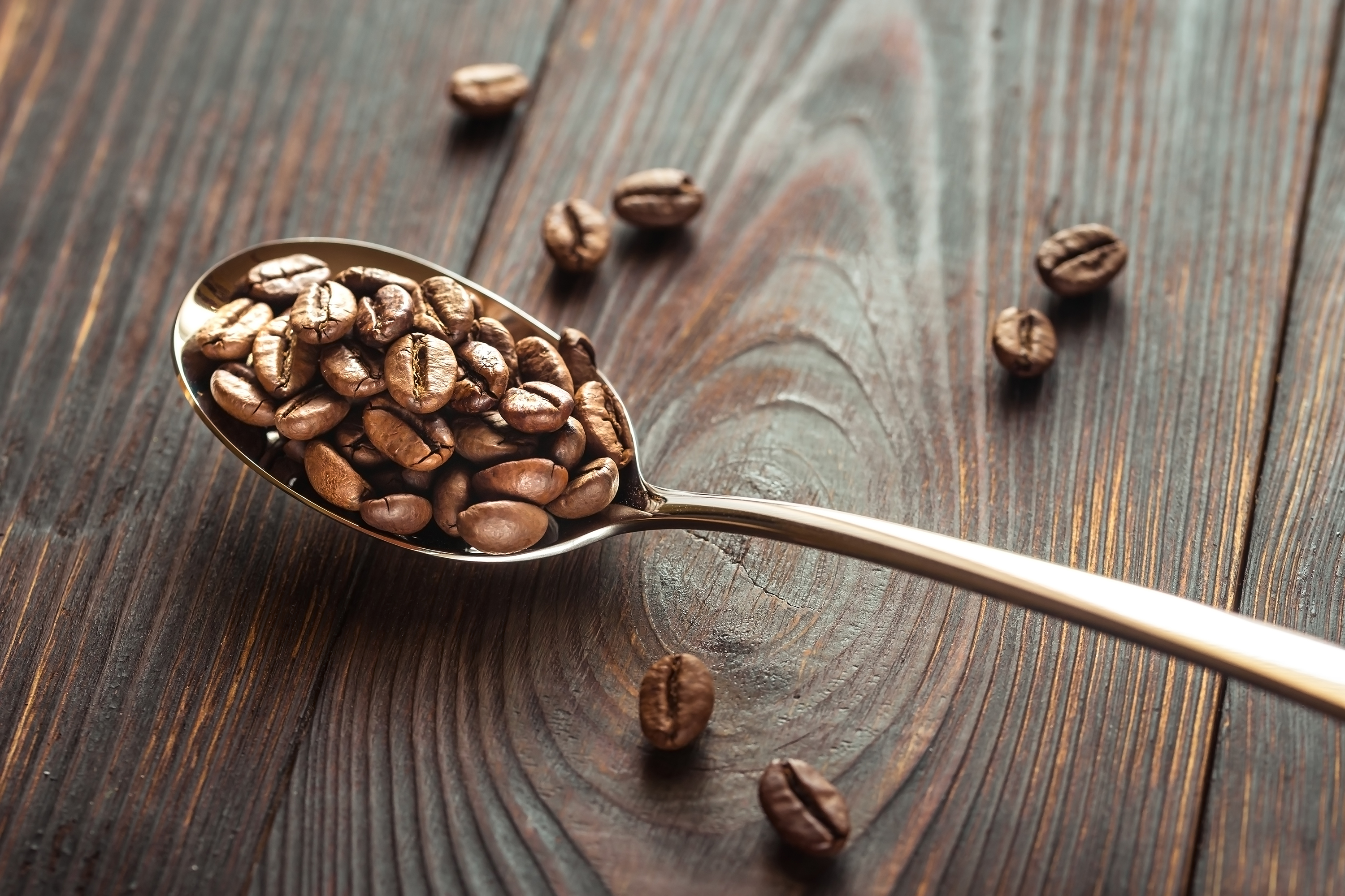 Spoon of coffee beans example image 1