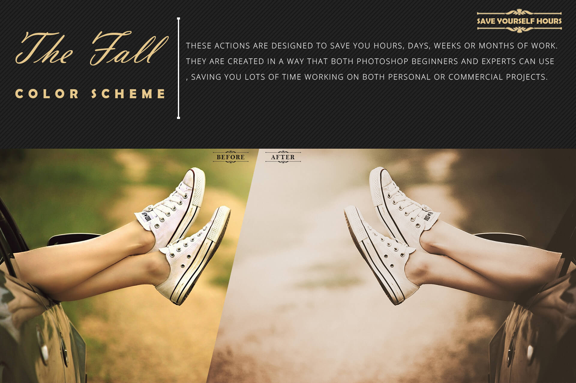 150 Fall Theme Color Grading Premium Photoshop action example image 7