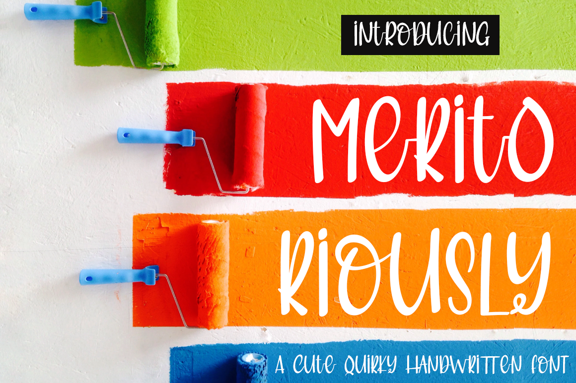 Meritoriously a Cute Quirky Handwritten Font example image 2